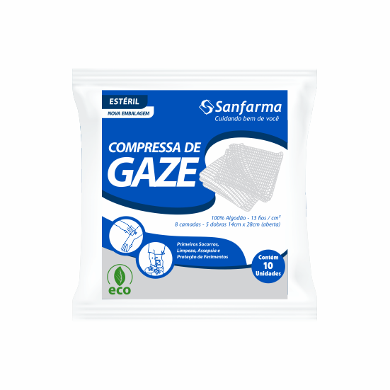 Compressa de Gaze 13 Fios Estéril